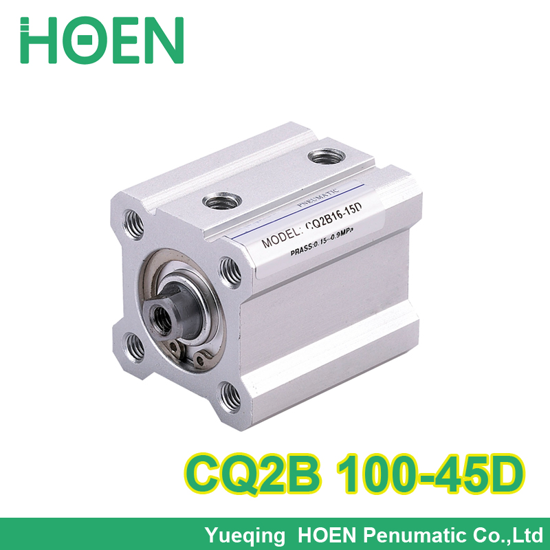 SMC Type CQ2B series CQ2B100-45D 100mm bore 45mm stroke Double Action single rod thin Pneumatic Compact Cylinder high quality mgpm80 100 80mm bore 100mm stroke smc thin three rod cylinder with rod air cylinder pneumatic air tools mgpm series