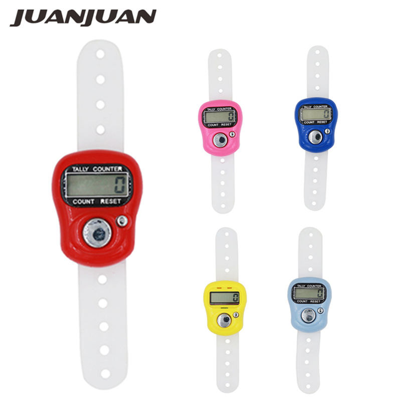 1pcs Portable Electronic Digital Counter Mini LCD Hand Held Finger Ring Tally Counter Stitch Marker Plastic Row Counter 40% off(China)