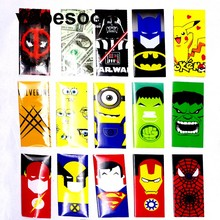 5 pieces Super Hero style 18650 Battery protected Wrapper Stickers protector Skin Repair electronic cigarette Battery