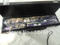 Professional Student Purple Silvering Grant 16 Hole C Metal Flute Plus the E Key Obturator Flauta Musical Instruments 271S