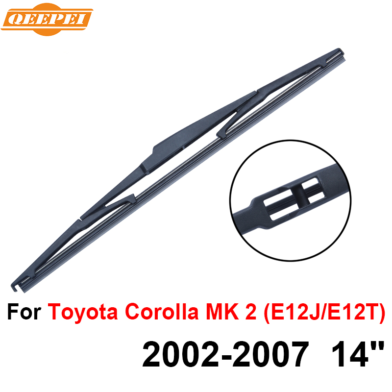 Orderly Qeepei Rear Wiper Blade No Arm For Toyota Corolla Mk 2 2002-2007 14 5 Door Estate High Quality Iso9001 Natural Rubber A1-35 Refreshment Glasses & Windows