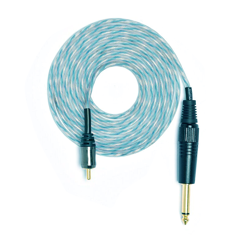 Newest High Quality 1.8m Long Silicone Soft Tattoo RCA Clip Cords Connector Clip Cords For Tattoo Machines Power Supply