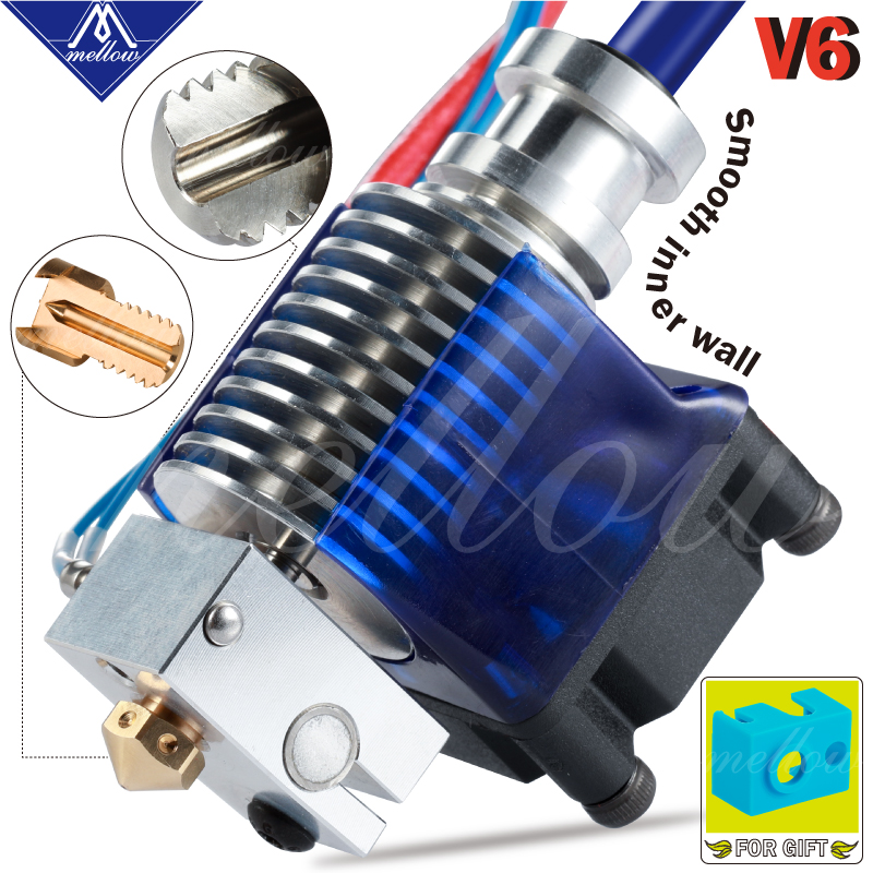 Mellow Top Quality All Metal V6 J-head Hotend Bowden Extruder Kit For E3d V6 Hotend Cooling Fan Bracket Block 3D Printers Parts