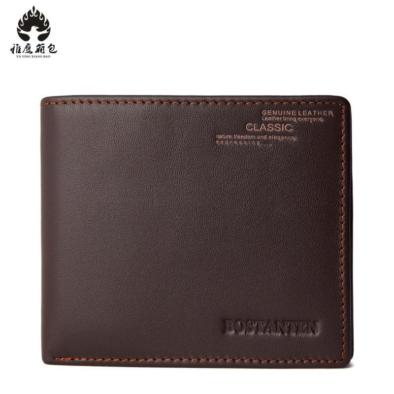 Genuine Leather Men Wallet Money Bag Credit Card Holders Dollar Bill Wallet Clutch Purse For Boy Use Purses Wallets Men Walet fashion mens wallets 2015 us dollar bill wallet brown pu leather wallet purse for man bifold credit card photo male money bags