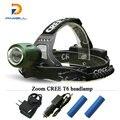 Zoom led head lamp headlight headlamp cree xml t6 torch 4 mode 18650 Rechargeable Battery farol frontal bike camping fishing