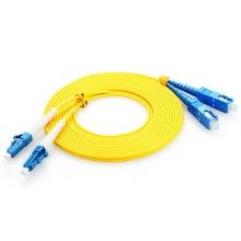 Optical fiber jumper telecommunication grade LC-SC network cable single-mode single-core 1.5m 3.5m high-speed information transm