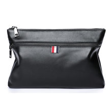 Men's cross-section square f leather clutch New first layer leather clutch bag soft leather business casual color handbag(China)