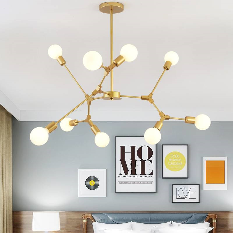 Star wish moden molecular chandelier for living room lamp bedroom lamp study dining room lamp magic bean lamp 110v 220v