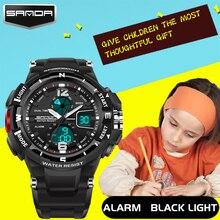 2016 New Sanda Children Cute Kids Watches Sports Cartoon Watch for Girls Boys Rubber Children's Digital LED Wristwatches Reloj