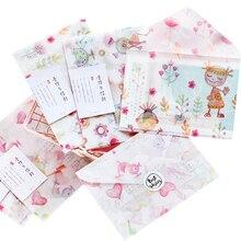 3 Pcs/lot Pink Sweet Parchment Paper Envelope Handmade For invitation Postcard Envelop Office School Supply