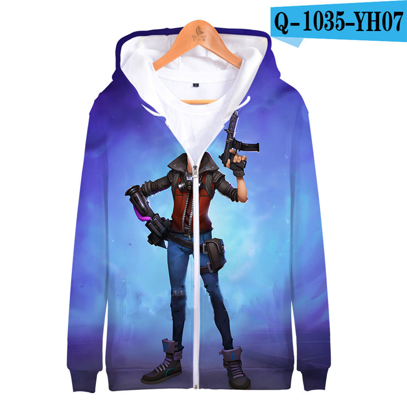 Zipper Fortnited Battle Royale Hoodie Oversize Tracksuit Streetwear Women Game Clothes Battle Royale Clothes Kid Clothes