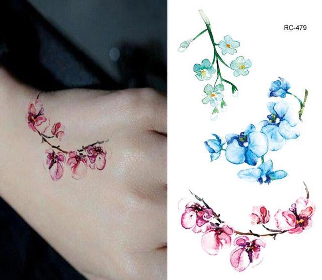 022 45 De Descuentopegatinas De Tatuaje Flor De Ciruelo Resistente Al Agua Hombres Y Mujeres Simulación Duradera Flores Sexi Pecho Cubierta