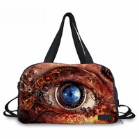 Noisy Designs Large Capacity Portable Travel Bags 3D Big Eyes Printed Women Business Travel Bag Foldable Lady Travel Duffle Tote