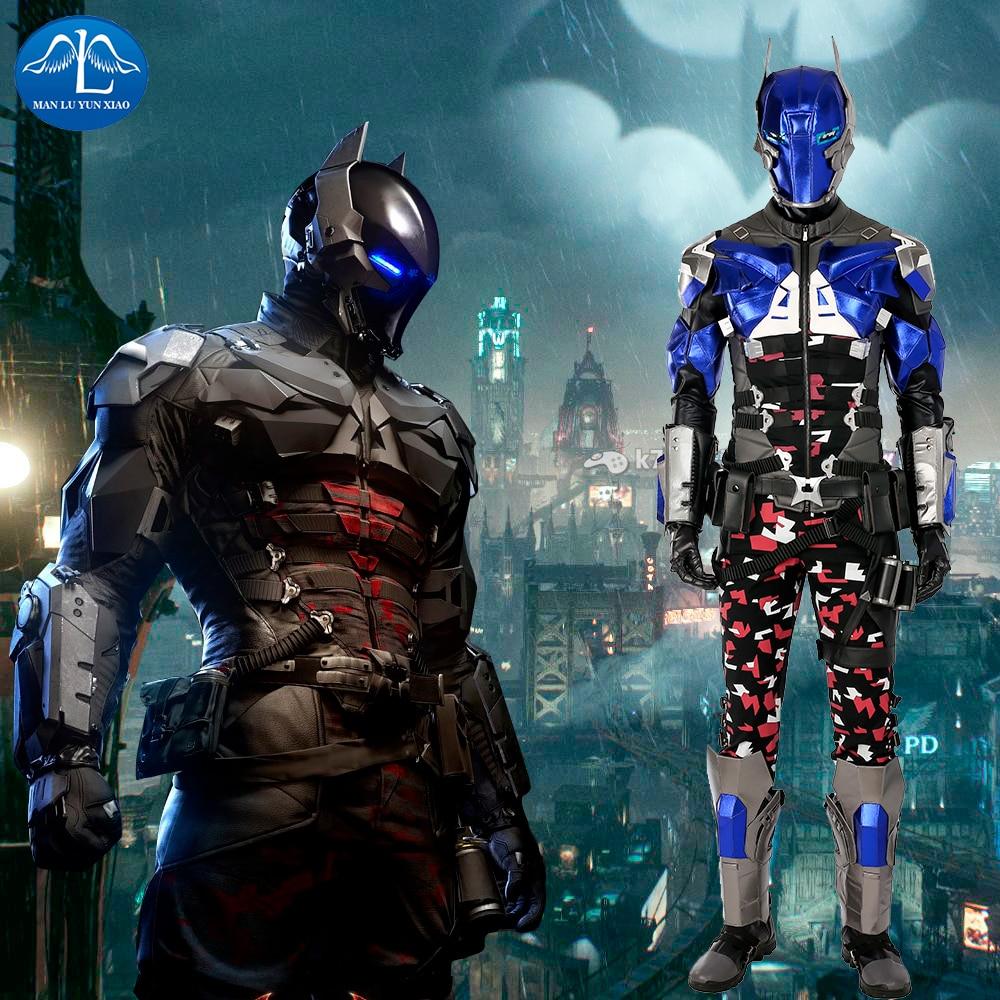MANLUYUNXIAO Personaje del juego Batman Traje Arkham Knight Costume Halloween Cosplay para hombre por encargo de alta calidad