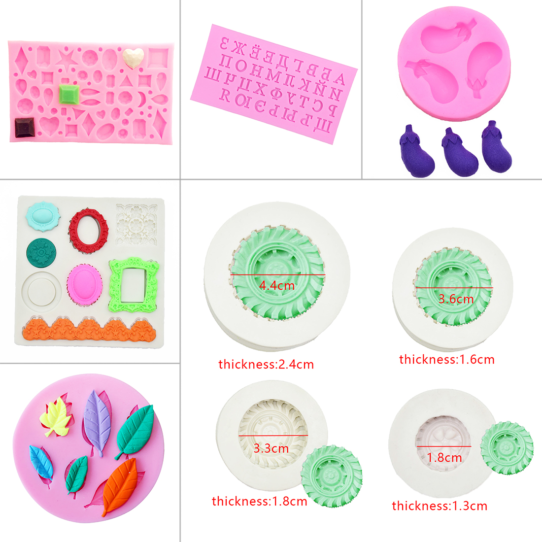 Best Sale Leaves Tire Heart Lips Shape Silicone Cake Chocolate Mold Fondant Tools Kitchen Accessories