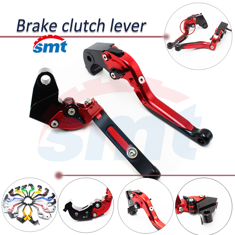 Motorcycle Brake Clutch Levers Aluminum Foldable extendable handlebar lever Red For YAMAHA YZF R6 1999 2000 2001 2002 2003 2004  fxcnc aluminum adjustable motorcycles brake clutch levers for yamaha fzr600 1989 2003 2000 2001 2002 moto brake clutch lever