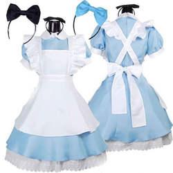 Umorden Алиса в стране чудес платье лолиты горничной косплэй фантазийный, для карнавала костюмы на Хэллоуин для женщин