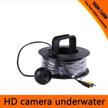 Free Shipping 100Meters Depth Underwater Camera with 12PCS white LEDS & Leds Adjustable for Fish Finder & Diving Camera