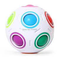 Puzzle Rainbow Football Magic Cube Fidget Spinner EDC Plastic Toy Anti Anxiety Finger Cube For Adult
