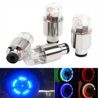 4PCS Car Tyre Wheel Tire Tyre Valve Cap Neon LED Light Lamp Decorative Lights For Bike Bicycle Cycling Auto Motorcycle