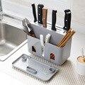 Многофункциональный держатель кухонного ножа универсальные ножи блоки Нескользящая Ложка Вилка стойка для хранения кухонный нож блок инс...