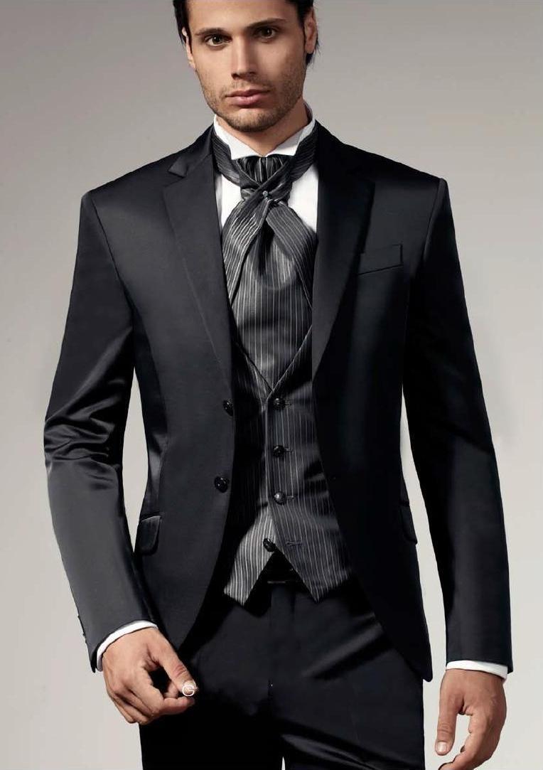2015 Men Suits Classic Wedding Suits Notched Lapel Mens