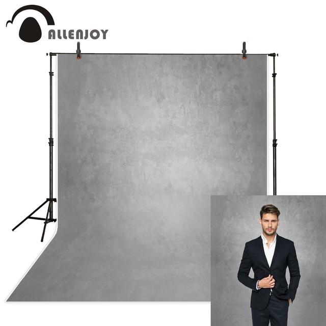 Allenjoy cinza cor pura velho mestre fotografia backdrops abstrato retrato foto fundo estúdio photozone decoração piso de vinil