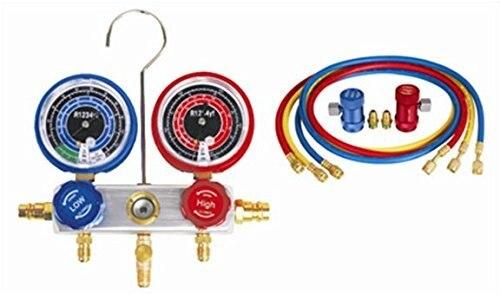 R1234yf manifold gauge refrigerant system automotive A/C repair tool