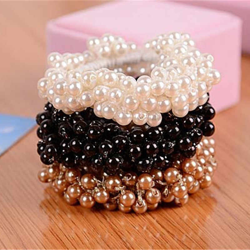 Craft Woven Beads Elastic Hair Ring Headband Hair Rubber for Women Hair Accessories Hair Ornaments Free Shipping