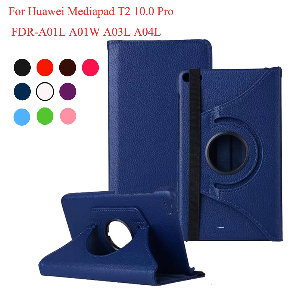 360 Degree Rotating PU Leather Case For Huawei Mediapad T2 10.0 Pro Stand Cover For Huawei Media Pad FDR-A01L/A01W/A03L/A04L