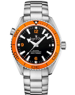 Luxury Brand New Men Automatic Mechanical Black Blue Leather Stainless Steel James Bond 007 Sapphire Watch Orange Ceramic Bezel