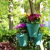 Plastic Originality European Balcony Hanging Flower Pot Gardening Bracket Plant Planter Bracketplant Flowerpot Match Chain