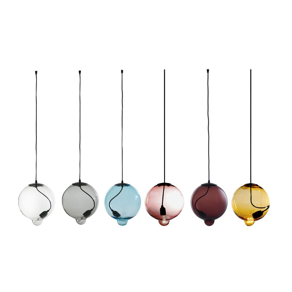 candy color magic glass ball pendant light glass soap bubble lamp brief novelty hanging lamp e27 ball pendant lighting