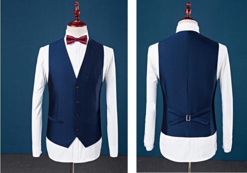 Erkek Kıyafeti'ten T. Elbise'de Özel Slim Fit Tepe Yaka En Iyi Erkek Takım Elbise Mavi Sağdıç erkek Düğün Balo Erkek Takım Elbise Smokin Balo Kostüm Homme ceket + Pantolon + Yelek'da  Grup 3