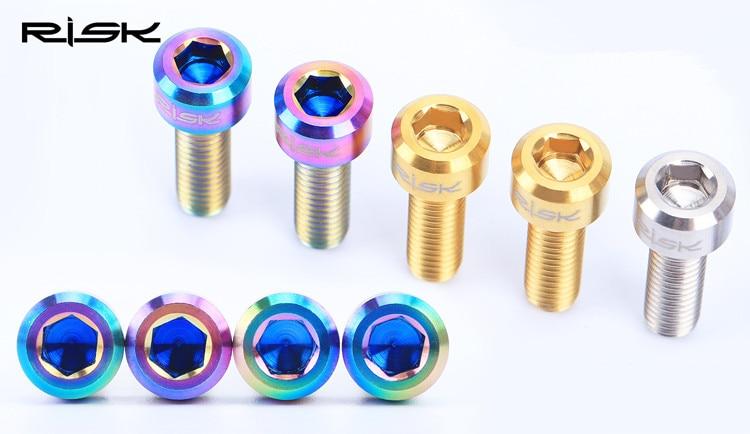 RISIKO titan M6 * 20 mm mtb kardanschrauben für shimano deore xt - Radfahren - Foto 5