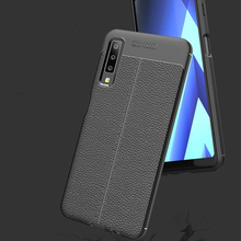 Silicone Case For Samsung Galaxy A7 2018 case Soft Leather TPU Phone Case Back Cover for Samsung Galaxy A7 2018 A750 Cover Case for samsung galaxy a7 2018 fitted shockproof back cover anti skid anti fingerprint silicone soft black tpu phone case