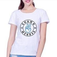 Shawn Mendes Designs T Shirt Women 2017 New Latest Fashion Fantastic Popular Music Singer Summer Tops
