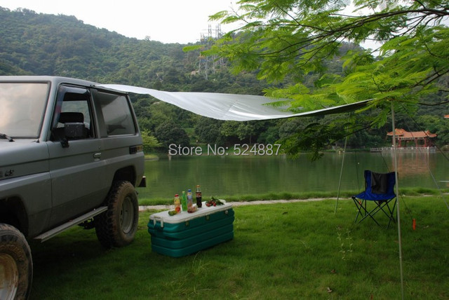 portable car awning tent side awning sun-shading sunscreen beach tent c&ing tent 4x4 off road accessory & US $59.9 |portable car awning tent side awning sun shading sunscreen beach tent camping tent 4x4 off road accessory-in Truck Accessories from ...