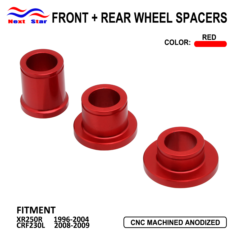 Motorcycle Billet Red Rear Wheel Hub Spacer Kit For Honda CR125R 250R CRF250R