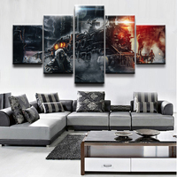 Home Decor Print Canvas Art Canvas Painting Wall Picture 5 Panel Abstract Painting Game Metro Exodus Poster Decor Bedroom