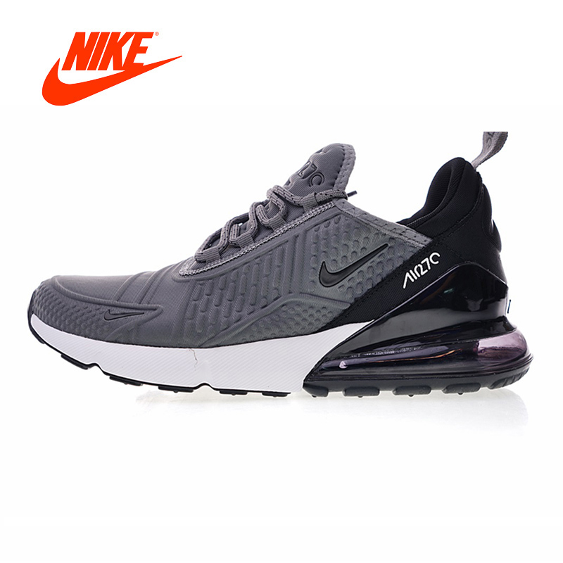 2018 Original Nike Air Max 270 Running Shoes for Men Jogging Stable Breathable gym Shoes Outdoor Winter Athletic AH 8060-002 nike air max 270 men s running shoes black