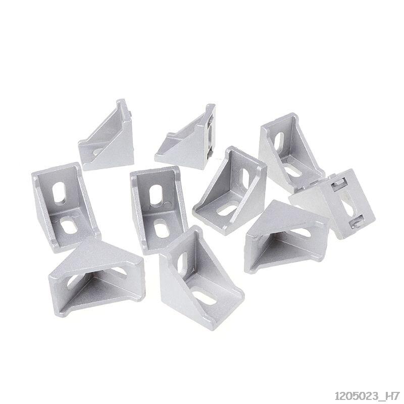 10pcs 3030 4040 2028 Fasten Fitting Angle 30x30 L Connector Aluminum Corner Bracket Joint Brace 34.8x34.8x28mm
