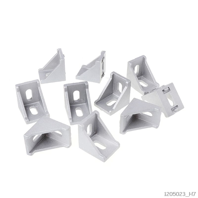 10pcs <font><b>3030</b></font> 4040 2028 Fasten Fitting Angle 30x30 L Connector Aluminum Corner Bracket Joint Brace 34.8x34.8x28mm image