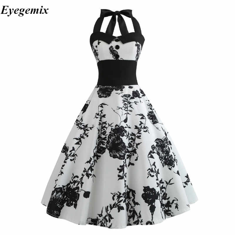 Floral Printed Dress Women Punk