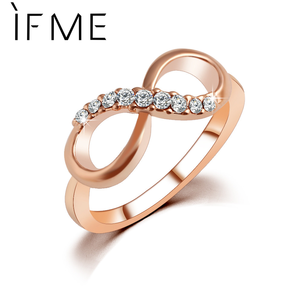 IF ME New Design hot sale Fashion Alloy Crystal Rin