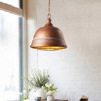 Одна голова Lampara светодиодный подвесной светильник Стиль Loft ретро лампа в ожидании освещение промышленных Винтаж свет Спальня Lampen