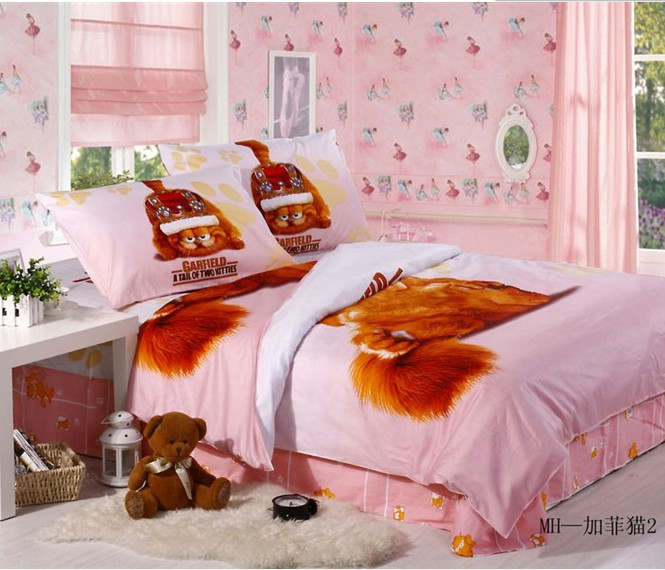 Kids Christmas Christmas Gift 100 Cottonsets Garfield Bedroom Set Anime Chilrd Kids Bed Girls Boys Bedding Sets Full Twin Size Gift Wrapping A Box Bed Heatergift Basket Baby Shower Aliexpress