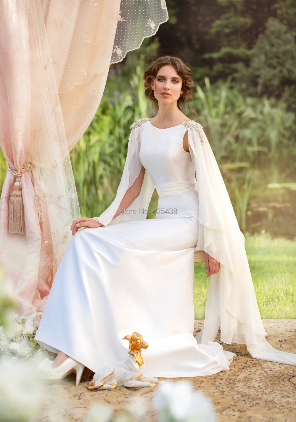 weddings gowns evita sposa greek wedding dresses By choosing an ancient dress you will definitely feel like a Hellenic Goddess A simple pair of sandals and floral hair pieces will complete your