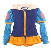 2017 New Spring Autumn Girl Jacket Kids Cartoon Snow White Princess Hooded Coat Baby Girl Hoodies