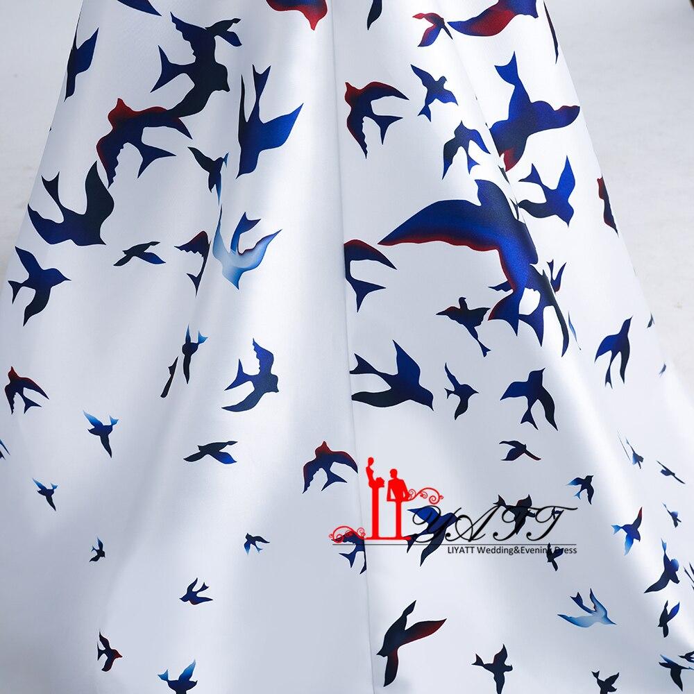 Новая коллекция 2017 вечерние Выпускные платья элегантный бархатный топ черный Товары для птиц печатных сексуальный разрез спинки вечерние Для женщин платье Дешевые - 6